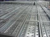 Tablón del metal del marco del andamio con el gancho de leva