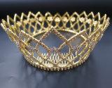 2018の最も新しいカスタマイズされた水晶王冠の結婚式のガラスStonneの金ラインストーンのティアラの花嫁の王冠(BC03)