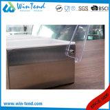 Sostenedor del rectángulo del condimento del acero inoxidable con el divisor de los PP