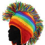 Les femmes de l'hiver chapeaux mous Bonnet tricoté avec Chapeau chaud Earflap POM pour les filles