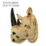잘 고정된 Antelop 두개골 앙티크 벽 장식