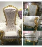 Salón de madera de lujo Asiento doble sofá para banquetes de boda//restaurante/Hotel/Home