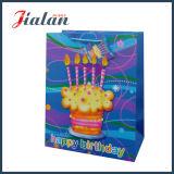 Roxo Impressão completa Novo design Personalizar saco de compras de papel artesanal