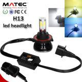 LED車のヘッドライトH1 H3 H7 H11 H4 880 881 9006 9005本の穂軸LEDのヘッドライト、極度の明るいLEDのヘッドライト