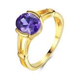 대중적인 2017년 다이아몬드 반지 여자 형식 보석 반지 금 반지