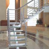 scala moderna dell'acciaio inossidabile 304 316 con l'impronta di vetro