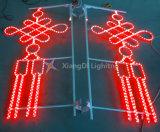 Das chinesischer helle Knoten-2D Motiv imprägniern für Straßen-Dekoration