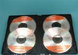 Coperchio 14mm della cassa DVD della casella DVD di DVD per il nero dei 4 dischi senza cassetto