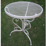 Le pliage du métal blanc Wire Mesh mobilier extérieur
