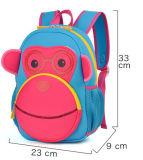 De grote Schooltassen van de Rugzak van de Aap van het Beeldverhaal van de Rugzak van het Neopreen van de Kinderen van de Grootte