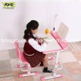Crianças cadeira de mesa estudo de casa Cofre de plástico PP Tabela de crianças com altura ajustável