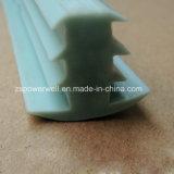 Tira do selo da borracha de silicone do verde da forma de T