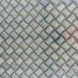 Acabado de espejo grabado lámina de aluminio con cinco barras
