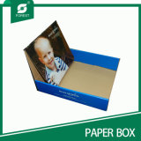 Boîte de présentation de papier estampée par logo fait sur commande de mode de constructeur