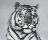 Pintura hecha a mano de la lona de rey animal Lion Home Arts