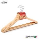Fournisseur vérifiés Lindon de gros de cintres de bois de couleur naturelle