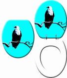 Asiento de tocador impreso microfaradio de la alta calidad con los animales