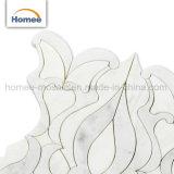 Het Ontwerp van uitstekende kwaliteit poetste Wit Waterjet van de Bloem Marmeren Mozaïek op