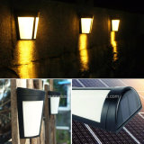 6 LED du capteur de lumière solaire Mur lumière Parc Jardin Cour de clôture de chemin de la lampe témoin de décoration