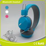Голубые связанные проволокой наушники с пакетом и логосом подгонянными конкурентоспособной ценой