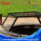 Pliage en acier inoxydable Portable Barbecue grill barbecue au charbon de bois sur le fil