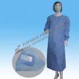 Nichtgewebtes Lokalisierungs-Kleid-Grün-Krankenhaus-Wegwerfkleid für Arbeitskräfte