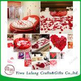 Pétalos de rosa de seda de simulación a favor de parte de alfombras Decoración Accesorios para bodas