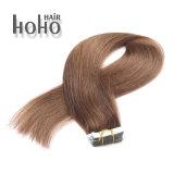 100 % de cheveux humains directement sur bande de 18 pouces d'onde Brown hair extension