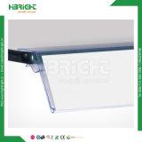 Держатель ценника PVC пластмассы супермаркета оптовый прозрачный для деревянных полок