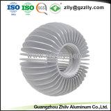 La T-Scanalatura modella i dissipatori di calore di alluminio del girasole del materiale da costruzione