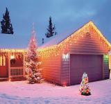 Het Licht van het LEIDENE Koord van de Decoratie voor de Partij van de Tuin van Kerstmis