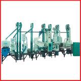 18t/Dayによって結合される小型米製造所の機械装置の費用