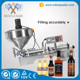 Tipo de neumático pegar miel aceite de máquina de llenado con calentador de mezclador