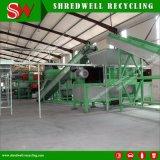 O sistema econômico para resíduos e desperdícios/reciclagem de pneus usados para fazer grânulos de borracha