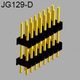 El tono SMT de 2,54 mm Cabezal de pines de doble fila