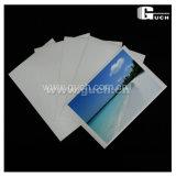 rolo lustroso elevado de cristal branco super & folha do papel da foto