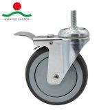 Con el tornillo de giro y freno total medio de la rueda de TPR deber Caster