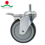 Поворот с помощью винта и общее тормоза TPR колеса средней мощности самоустанавливающегося колеса