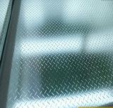 Laminado de segurança passo em vidro com padrão de Antiderrapagem