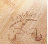 Panneau de découpage en bambou de pizza de forme ronde/panneau de découpage rond