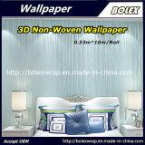 Papier peint gravé en relief non tissé bon marché des prix pour les murs à la maison