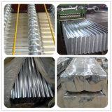 Hoja acanalada galvanizada del material para techos para el material de construcción