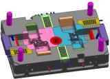 Molde de bastidor de aluminio con 10 diapositivas (6 +4 hidráulicos mecánicos)