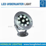 Imperméable IP68 d'éclairage LED 9W natation sous-marine de lumière à LED