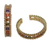 S925 серебристые моды очарование красивых женщин цвет камня кольцо (R10972)