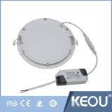Usine/constructeur d'intérieur frais du panneau 18W 8inch Downlight du blanc 6000k DEL