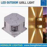 防水黒い4側面LEDの屋外の壁ライトを殻から取り出す