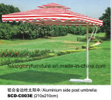 알루미늄 둥근 옆 포스트 우산