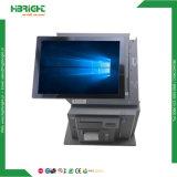 caja registradora del sistema de la posición 15inch toda en un ordenador de la pantalla táctil para las ventas al por menor y restaurante dual