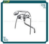 Faucet Polished do banheiro do punho cerâmico luxuoso do zinco do núcleo
